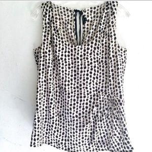 Ann Taylor Animal Print Blouse Size 6P